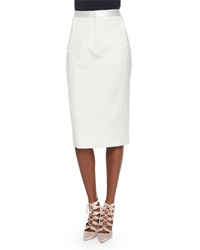 Adam By Adam Lippes Satin Trimmed Midi Pencil Skirt