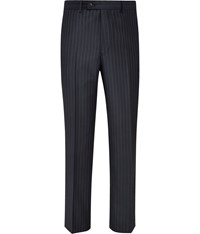 Austin Reed Regular Fit Navy Pinstripe Trousers