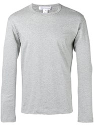 Comme Des Garcons Shirt Crew Neck Long Sleeve Top Grey