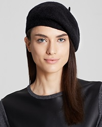 C By Bloomingdale's Angelina Cashmere Beret Black