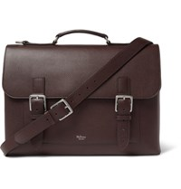 Mulberry Full Grain Leather Briefcase Burgundy