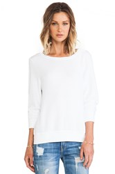 Wildfox Couture Varsity Basic Baggy Beach Jumper White