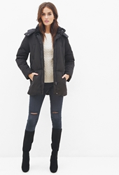 Forever 21 Classic Hooded Puffer Jacket