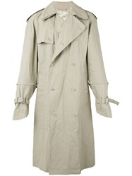Off White Scorpion Trench Men Linen Flax Acrylic Viscose S Nude Neutrals