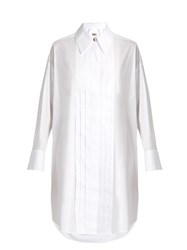 Maison Martin Margiela Tuxedo Long Sleeved Shirtdress White