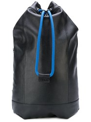 Diesel Drawstring Backpack Women Calf Leather One Size Black
