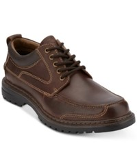 Dockers Overton Moc Toe Leather Oxfords Shoes Red Brown