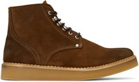 Diesel Brown D Army Lace Up Boots