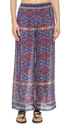 Theodora And Callum Ankara Palazzo Cover Up Pants Cobalt Multi