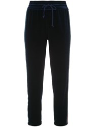 Mother Lounger Ankle Track Pants Blue