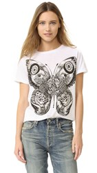 Happiness Butterfly Tee White