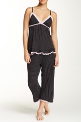 Rene Rofe Camisole And Pant Pajama Set Black