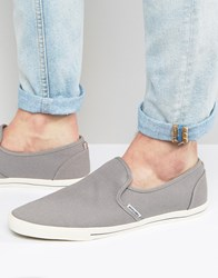 Jack And Jones Snake Slip On Plimsolls Grey