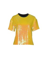 American Retro Shirts Blouses Women Yellow