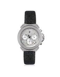 Lancaster Pillo Deco' Women's Chronograph Watch Black