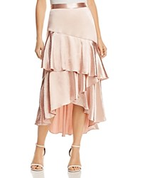 Lost And Wander Mademoiselle Ruffled Satin Skirt Rose