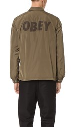 Obey Baker Graphic Jacket Dusty Army