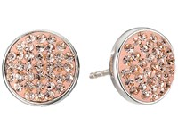 Marc By Marc Jacobs Pave Disc Stud Earrings Blush Earring Pink