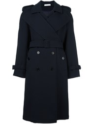 J.W.Anderson Wide Collar Trench Coat Blue