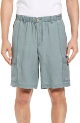 Tommy Bahama Men's Linen The Dream Cargo Shorts Pacific Storm