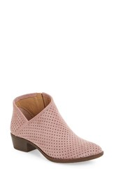 Lucky Brand Women's Breeza Perforated Bootie Blush Leather