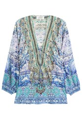 Camilla Embellished Silk Blouse Multicolor