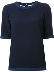 Prabal Gurung Embroidered Back T Shirt Blue