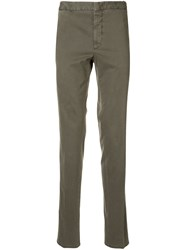 Corneliani Slim Fit Chinos Green