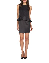1.State Sateen Peplum Dress Rich Black