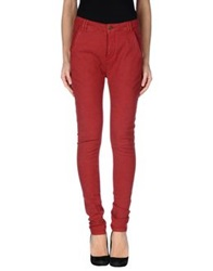 Superfine Denim Pants Brick Red