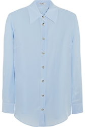 Miu Miu Washed Silk Shirt