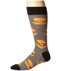 Socksmith Good Burger Heather Gray Crew Cut Socks Shoes