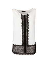 Morgan Lace Panel Sleeveless Top Winter White