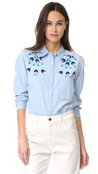 Rails Brett Button Down Shirt Geo Embroidery