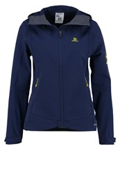 Salomon Ranger Soft Shell Jacket Medieval Blue Dark Blue