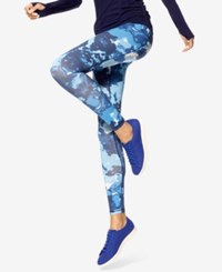 Hue Blur Active Leggings Blue
