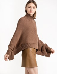 Pixie Market Brown Cape Crop Sweater