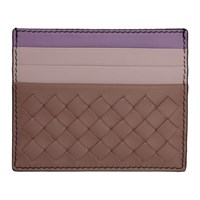 Bottega Veneta Pink And Purple Intrecciato Card Holder