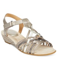 Easy Spirit Malawi Wedge Sandals Women's Shoes Light Gold Multi