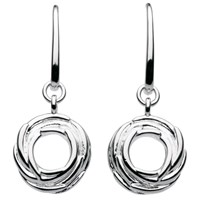 Kit Heath Sterling Silver Nest Drop Earrings Silver