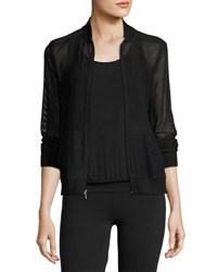 Beyond Yoga So Bomber Mesh Athletic Jacket Black Jet