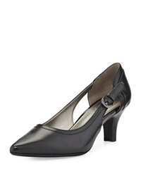 Circa Joan And David Clarity Cutout Pointed Toe Pump Black