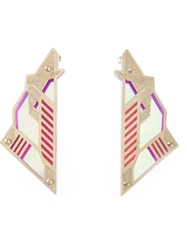 Sarah Angold Studio 'Mirantor' Earrings Pink And Purple