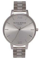 Olivia Burton Women's 'Big Dial' Bracelet Watch 38Mm Silver Silver
