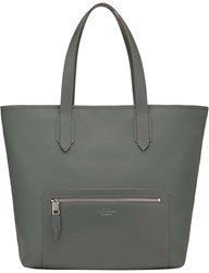 Smythson Greenwich East West Canvas And Leather Tote Granite