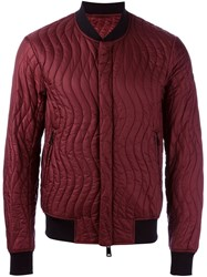 Armani Jeans Quilted Bomber Red