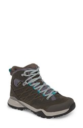 The North Face Hedgehog Ii Gore Tex Waterproof Hiking Shoe Q Silver Grey Porcelain Green