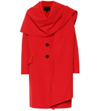 Marc Jacobs Shawl Collar Wool Blend Coat Red