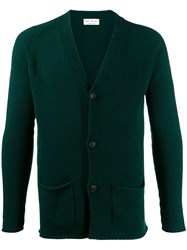 Ma'ry'ya V Neck Cardigan Green