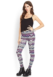 Forever 21 Abstract Zigzag Leggings